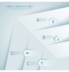 Modern infographic template for business design vector image vector image