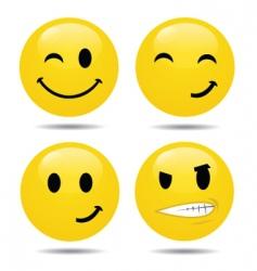 Smiley set2 vector