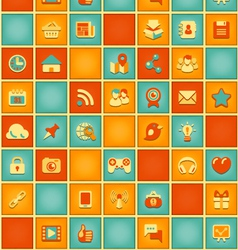 Square Pattern of Social Media in Retro Colors vector image vector image