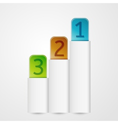 vertical banners with numbers vector image vector image
