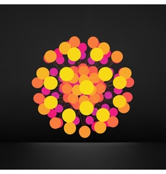 3d Abstract Sphere Geometric Shape Line and Dot vector image
