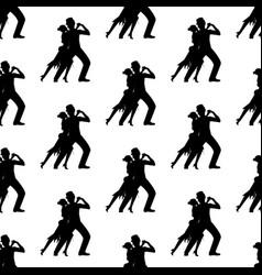 argentina tango pattern vector image