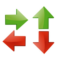 Arrow sign on white vector