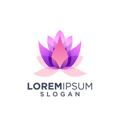 awesome lotus flower logo design inspiration vector image