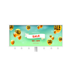 billboard with ad of sale price cut offer vector image