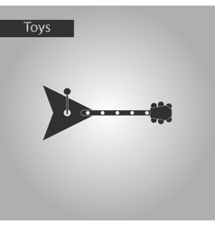 Black and white style toy balalaika vector
