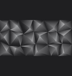 black carbon background abstract pyramid vector image