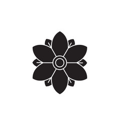 botanical flower black concept icon vector image