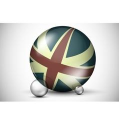 british flag on ball field vector image
