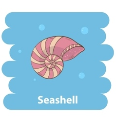 Cartoon Seashell vector image