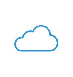 cloud blueicon linecolor weather symbol is vector image