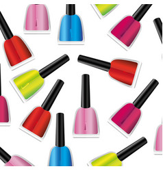 Colored nails polish background icon vector