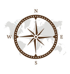 compass logo design vector image