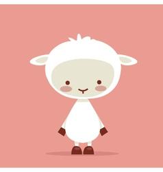 cute sheep vector image