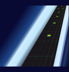 Ebony fingerboard vector