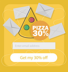 Ecommerce concept - fast food online subscribe to vector