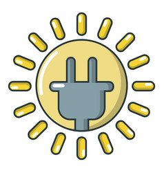 electrical plug icon cartoon style vector image