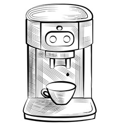 Electronic equipment making coffee drink vector