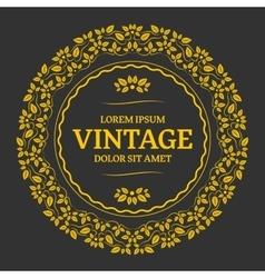 Elegant golden floral monogram vector image