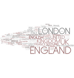 England word cloud concept vector