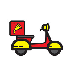 Flat color delivery pizza icon vector