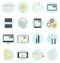 Flat design modern icons set vector image