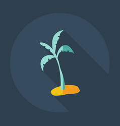 Flat modern design with shadow icons palm vector