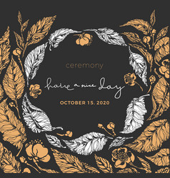 floral card wedding invitation holiday ceremony vector image