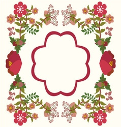 flower frame background vintage vector image