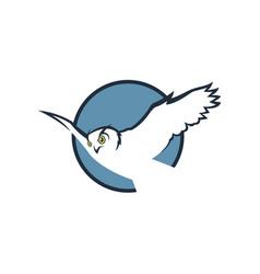 flying owl emblem vector image