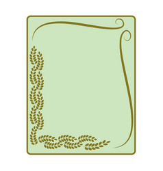 Frame of leaf card vector