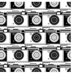 Graphic camera pattern vector