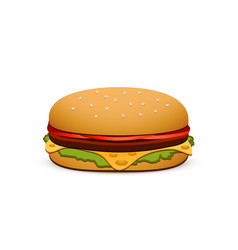 hamburger isolated on white background vector image