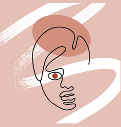 hand drawn flat woman vector image