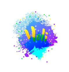 Holi holiday logo emblem vector