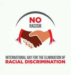 International day for elimination racial vector