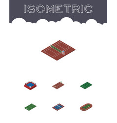Isometric sport set of volleyball fighting vector