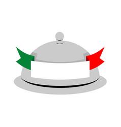 Italy dish tray sign isolated food italian vector