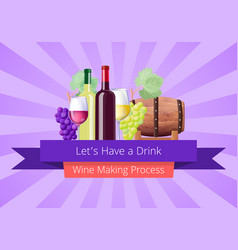 lets have a drink poster vector image