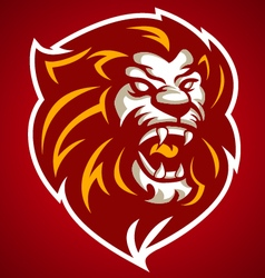 Lion red head logo 10092016 vector