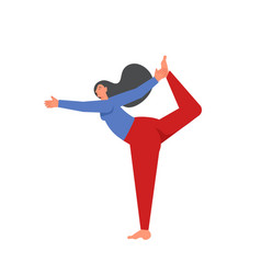 Lord dance yoga pose flat style vector