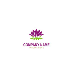 Lotus flower beauty logo vector