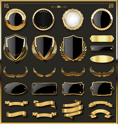 Luxury gold and red design elements collection 01 vector