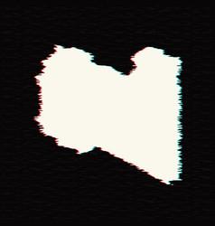 map libya isolated black on vector image