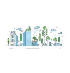 modern eco friendly cityscape with architecture vector image