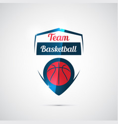modern logo for a basketball team vector image