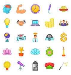 News icons set cartoon style vector