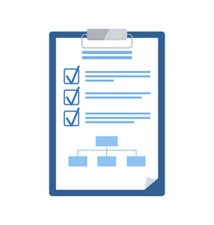 notepad with checklist and scheme business plan vector image
