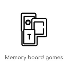 Outline memory board games icon isolated black vector
