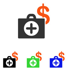 Payment healthcare case flat icon vector